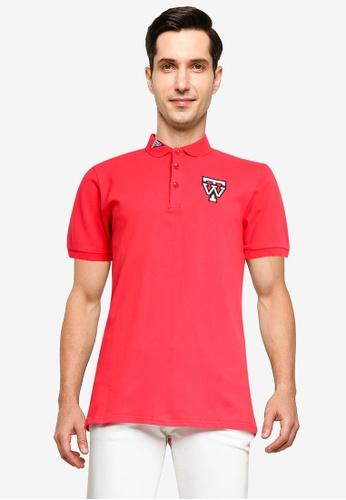 Fidelio red TW Flag Casual Polo Shirt 1582EAA916F38DGS_1