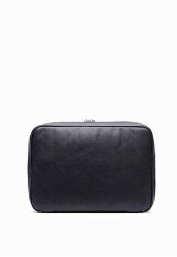 Life8 black Formal Leather Laptop Protect Bag-06446-Black 34786ACE368534GS_1