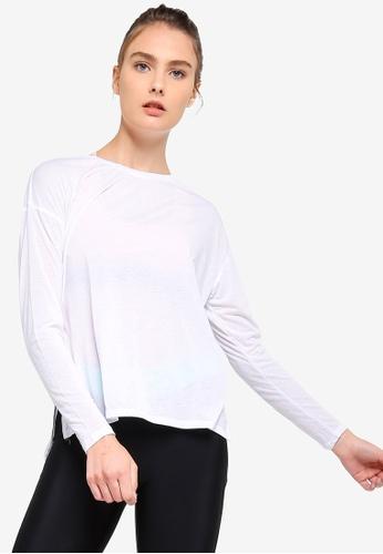 Cotton On Body white Long Sleeve Split Hem Top CCCA4AA0CACE97GS_1