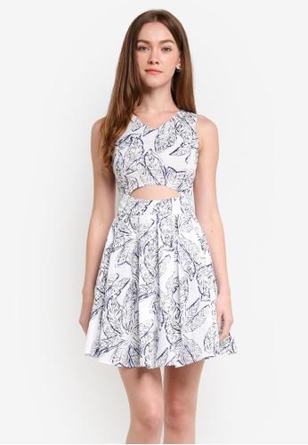 Megane white Aida Flora Print Dress ME617AA0RR24MY_1
