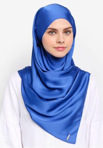 Najjah blue Satin Silk Shawl NA225AA0SR6DMY_1