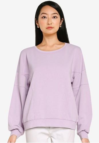 ONLY purple Lavender Long Sleeves Sweatshirt 8F0D1AA3D47B6DGS_1