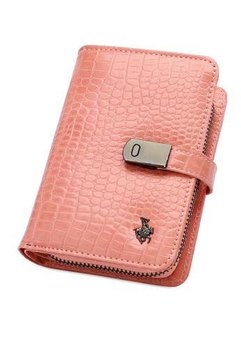 Swiss Polo pink Short Croc Purse 4F140AC6670E1DGS_1