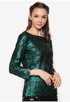 Metalic Lace Tunic Top