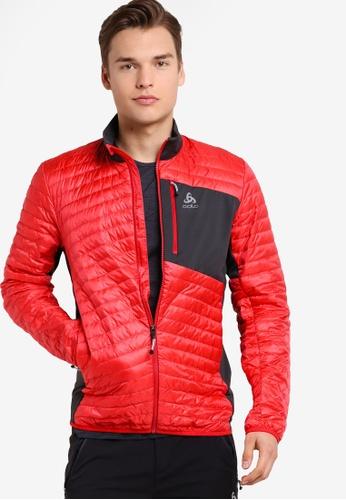 Odlo red Midlayer Full Zip Helium Cocoon Jacket OD608AA46JZXMY_1