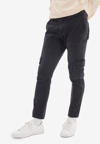 Trendyol grey Cargo Pocket Jeans EEF25AA7C4C15FGS_1