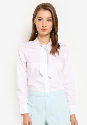 G2000 white Easy Fit Twill Shirt A0E2FAA2BFBDD2GS_1