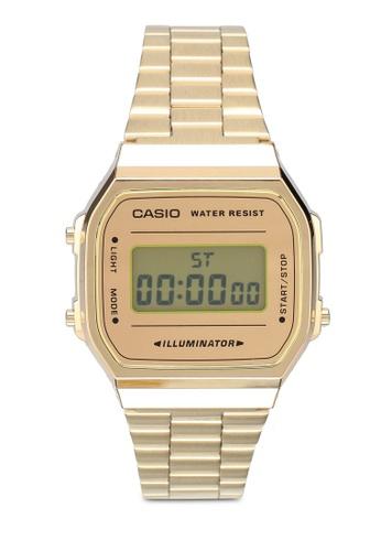 Casio gold Casio A168WEGM-9DF Watch 55B79AC51FA688GS_1