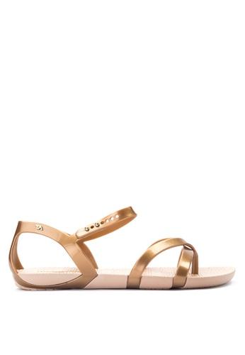 Terra Agua Gold Flat Sandals Te240sh0isw7ph 1