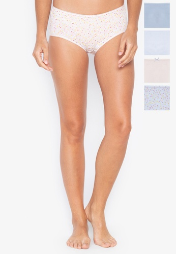 32425e1bd330c6 MARKS & SPENCER multi 5 Pack Cotton Rich Midi Knickers 7D0B8US1A41341GS_1