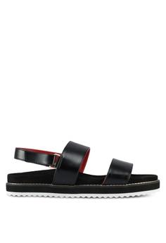 VINCCI black Strappy Sandals 168FASH19E5184GS_1
