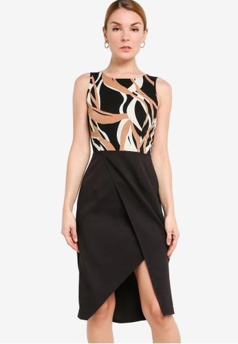 ZALORA WORK 多色 Sleeveless Tulip Dress 5D0F8AA1BB60DDGS_1