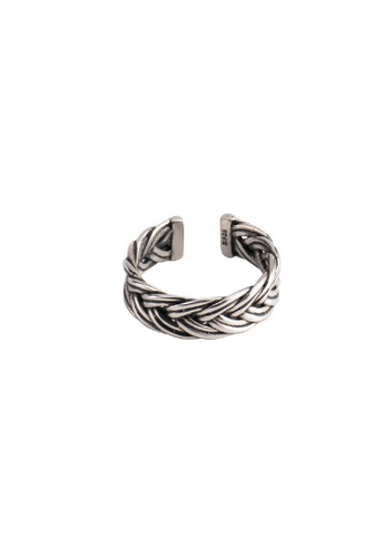 A-Excellence silver Premium S925 Sliver Braided Ring 2992EACEE804FEGS_1