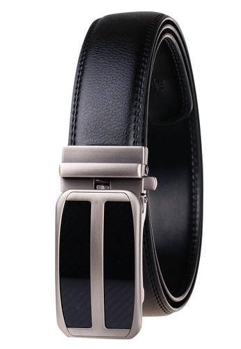 FANYU black Leather Dress Belt With Automatic Buckle belt 9D639AC9E83215GS_1