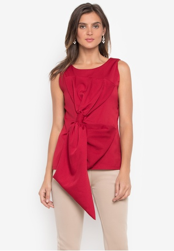 CANVAS red Fatima Top Sleeveless with Exaggerated Ribbon Top 2FD9FAA384BCB0GS_1