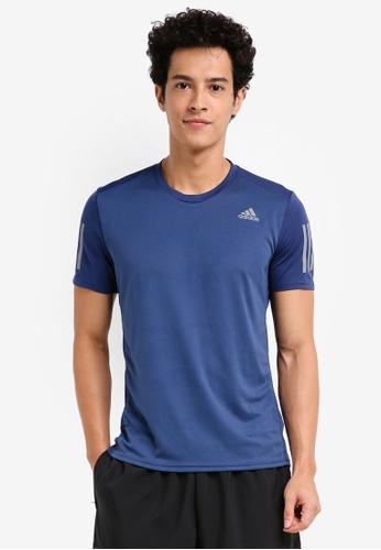 adidas 藍色 短袖運動慢跑T恤 EADB0AA64B669AGS_1