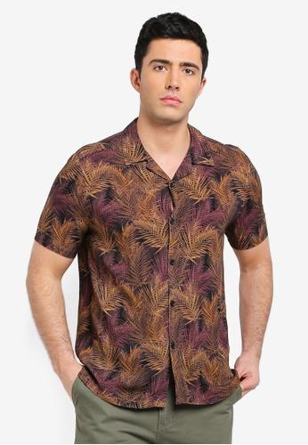 18bd1be2efc7d Buy Topman Black Palm Revere Shirt Online on ZALORA Singapore