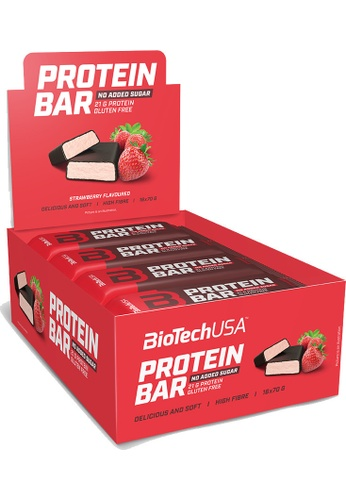 BioTechUSA [Box of 20] Protein Bar - Strawberry 35g 597B7ES7FB92ADGS_1