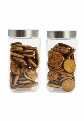 Slique n/a Premium Glass Jar With Stainless Steel Lid 2000ml 207ADHL0CA8307GS_1