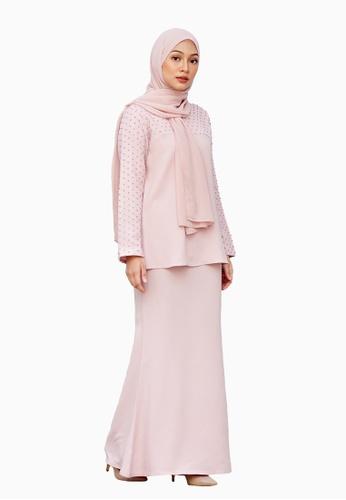 Alana Kurung Moden from LosraVelda in Pink