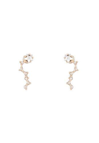 Red's Revenge gold Struck Out Star Stud Earrings RE144AC0RRTKMY_1