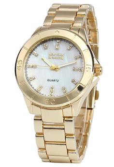 Newyork Army Women's Goldtone Analog Watch #8003