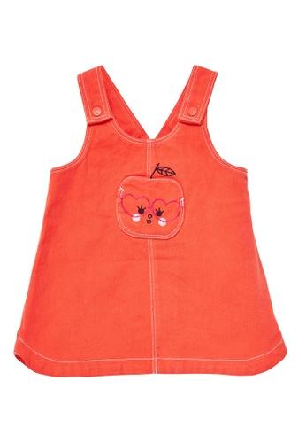 Du Pareil Au Même (DPAM) orange Dungaree Dress 4426EKA95D2BDFGS_1