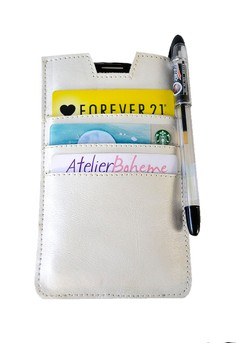 Cream Pearlized Pull Leather Case
