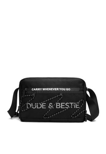 The Dude black Wave Messenger Bags D2378ACEAC9F79GS_1