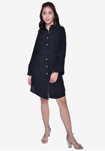 2a5e27bd626 Shop Caoros Button-Down Shirt Dress with Belt Online on ZALORA Philippines