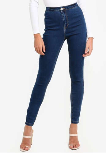 ca6238ba68 Shop MISSGUIDED Vice High Waisted Skinny Jeans Online on ZALORA Philippines