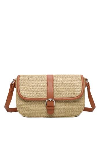 Milliot & Co. brown Tess Sling Bag 78E38AC3454BCAGS_1