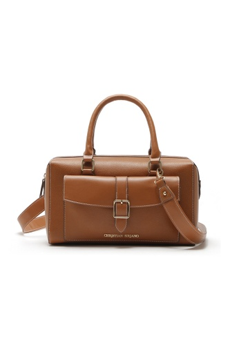 48314cd7f2 A FRENZ brown Classic PU Leather Boston Shoulder Crossbody Bag  7C2FEACF525C85GS 1