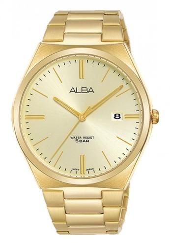 Alba gold Jam Tangan Pria Alba Original Garansi Resmi AS9H80 AS9H80X1 Strap Stainless Steel Gold 7E877AC6A4C130GS_1