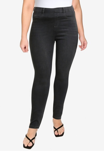 Dorothy Perkins grey Plus Size Charcoal Eden Jean 5F1A0AA5EE2C2EGS_1