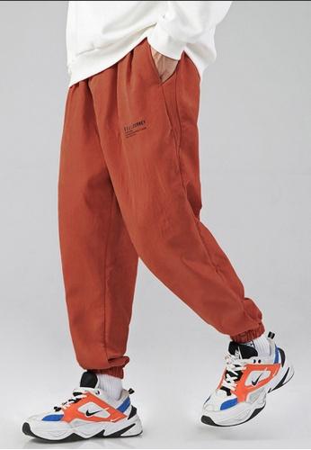 Twenty Eight Shoes 橘色 VANSA 簡約寛鬆休閒長褲  VCM-P9188 77159AA5B53D75GS_1