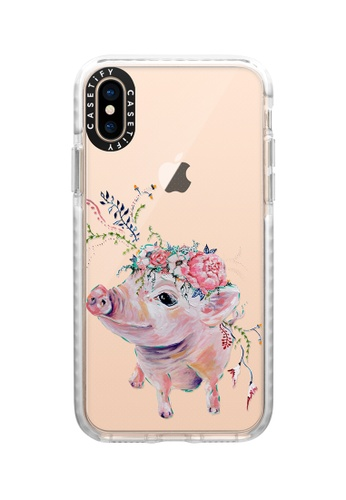 Casetify white Pearl The Pig Impact Protective Case for iPhone XS/ iPhone X 2EC4FACDC0C080GS_1