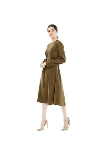 Luna Habit green Luna Habit Eveline Dress Wanita - Olive FB275AA3AE4E03GS_1