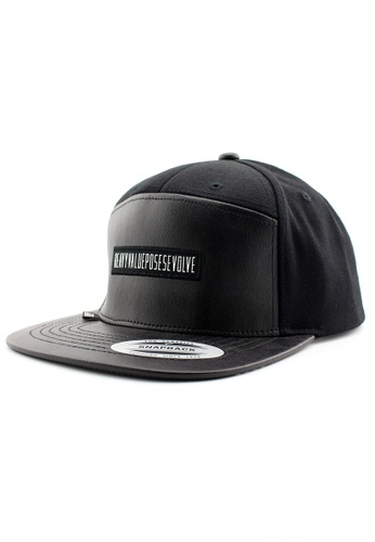 DOSSCAPS black HVPE Heavy Value Five Panel Cap DO290AC0RYYRMY_1
