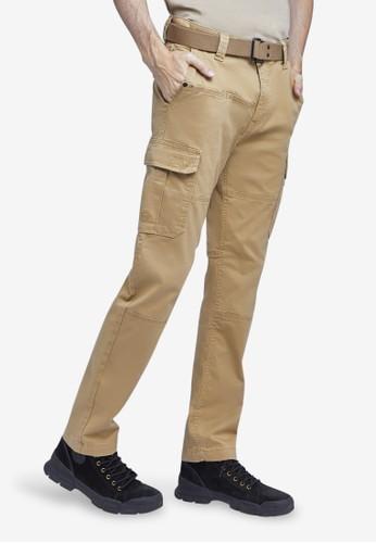 MGEE brown Mgee Cargo Pants B170CAACDFFBF5GS_1