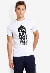 Wrung white Man Painted T-Shirt WR395AA83MPSMY_1