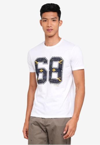 Sisley 白色 VAN ORTON聯名款普普風短袖T恤 D891BAAEF05892GS_1