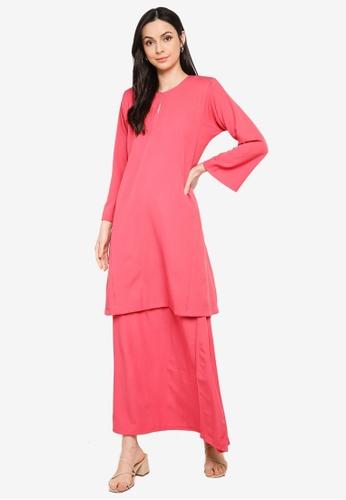 Butik Sireh Pinang pink Baju Kurung Pahang Salimah 36FBAAA8147117GS_1