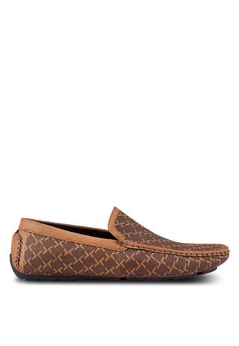 Voze brown Voze Printed Loafers VO198SH74GZXMY_1