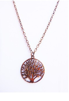 Tree of Life Charm Antique Gold Vintage Pendant Necklace