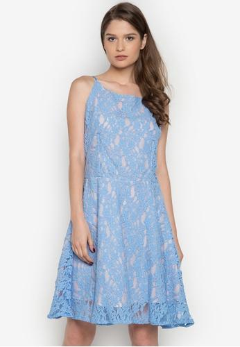 Chelsea blue Felicita Boat Neck Lace Dress CH004AA0JSZWPH_1