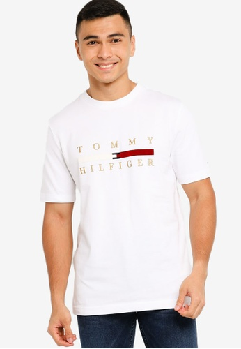 Tommy Hilfiger white Wcc Icon Bar Tee E3C72AA204357EGS_1