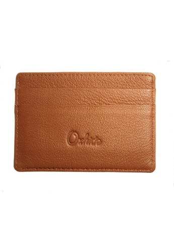Oxhide brown Leather Card Holder - Leather Card Case  - Oxhide JG4181P Light Brown B74E5AC2DF2C42GS_1