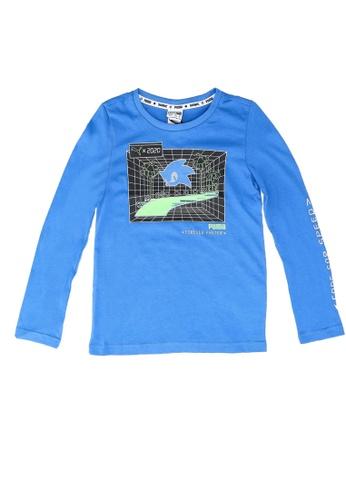 PUMA blue PUMA x SEGA Long Sleeve Tee 08D62KA86D2327GS_1