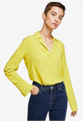 Mango yellow Buttoned Flowy Shirt 3B8C5AAF3966E4GS_1